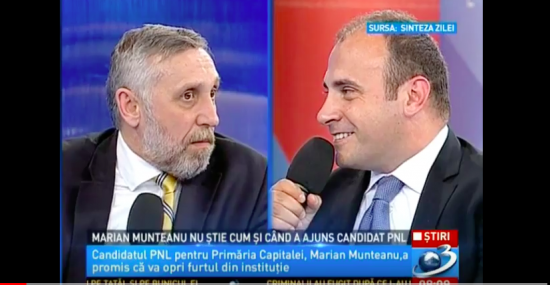 Miercuri seară cu Marian Munteanu la Antena 3.